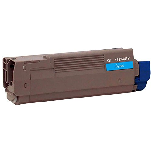 Bulk 43324419 Oki-Okidata Compatible Laser Toner Cartridge, Cyan Ink: CO6100C (5 Toner (43324419 Laser)
