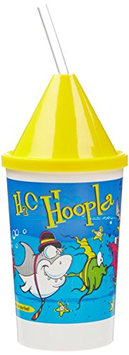 Toddler Kid Cups with Cone Lid and Straw (Pack of 4) (Yellow)