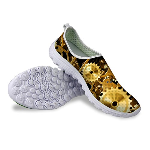 Mesh Running Gear Shoes IDEA US9 Mechanical HUGSIDEA Mens HUGS Gold Print xqRwf0nBO