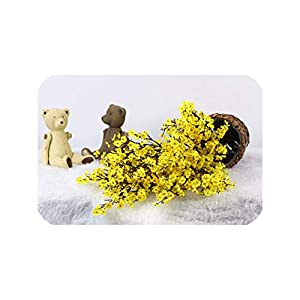 Artificial Flower Baby's Breath Gypsophila for Wedding Home New Year Decoration Fall Winter Decorations Fake Flower,Yellow 102