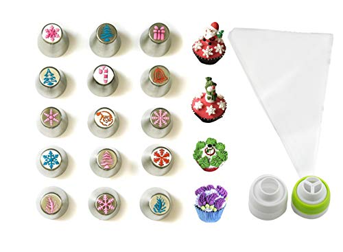 JJMG NEW Russian Icing Piping Tips Christmas Design For Cakes Cupcakes Cookies - Decoration Pastry Baking Tools