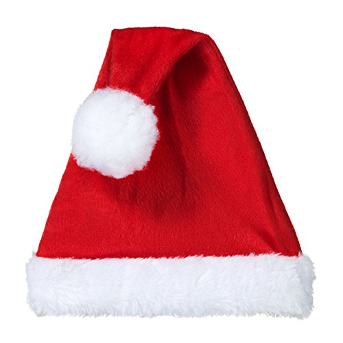 Decorative Santa Claus Hat - Hat with Elastic Base & Wire for Positioning - Pack of 5 by Frame Toppers
