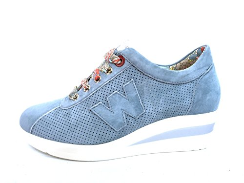 R20110 CARRIBEA Scarpa donna Melluso sneaker zeppa pelle made in Italy