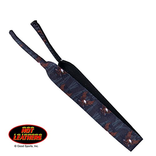Hot Leathers Stretchy Bikers Shade Holders Strap, UPWING EAGLE with Rubber Loop Ends SUNGLASS HOLDER CORD