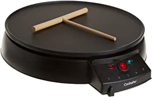 """Crepe Maker and Non-Stick 12"""" Griddle by CucinaPro (1448) - Includes Spreader and Recipe Guide"""