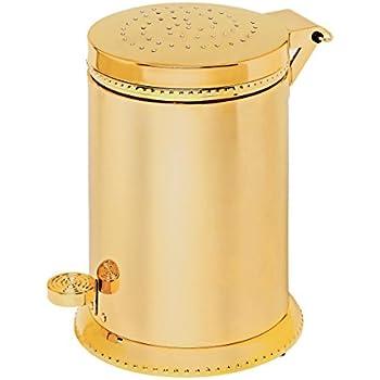 Amazon Com Luxo Toilet Waste Basket Polished Gold With