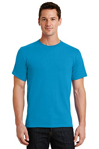 Port & Company Men's Essential T Shirt L Turquoise from PORT AND COMPANY