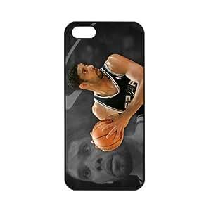 NBA San Antonio Spurs Tim Duncan Apple iPhone 5 TPU Soft Black cases for basketball fans Apple iPhone 5 TPU Soft Black or White cases for basketball Spurs fans (Black)