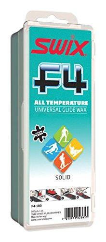 Swix F4 Universal Clean Fluoro Solid Bar Ski & Snowboard Wax, Blue, 180g