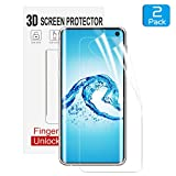 Kolpop Samsung Galaxy S10 Screen Protector, Liquid-Skin [in-Display Fingerprint Support] Full Coverage Screen Protector for Samsung Galaxy S10 (2019) HD Clear Case-Friendly Film [2 Pack]