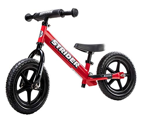 (Strider - 12 Sport Balance Bike, Ages 18 Months to 5 Years, Red)