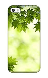 TYH - Excellent Iphone 5/5s Case Tpu Cover Back Skin Protector Green Maple Leaves phone case