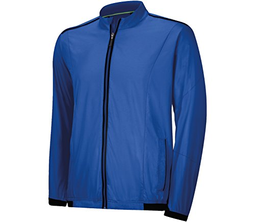Taylormade Men's Climaproof Stretch Wind Jacket - Vivid Blue/Black - Medium