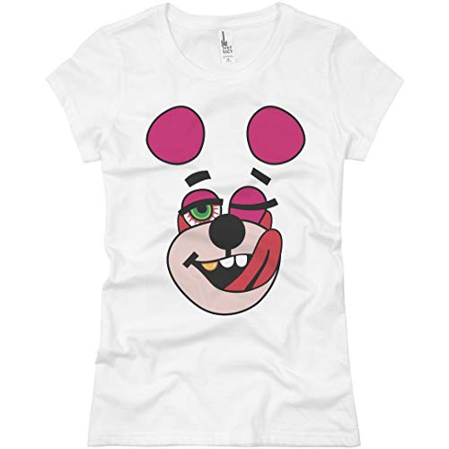 Hip Hop Teddy Bear: Ladies Slim Fit Basic T-Shirt -