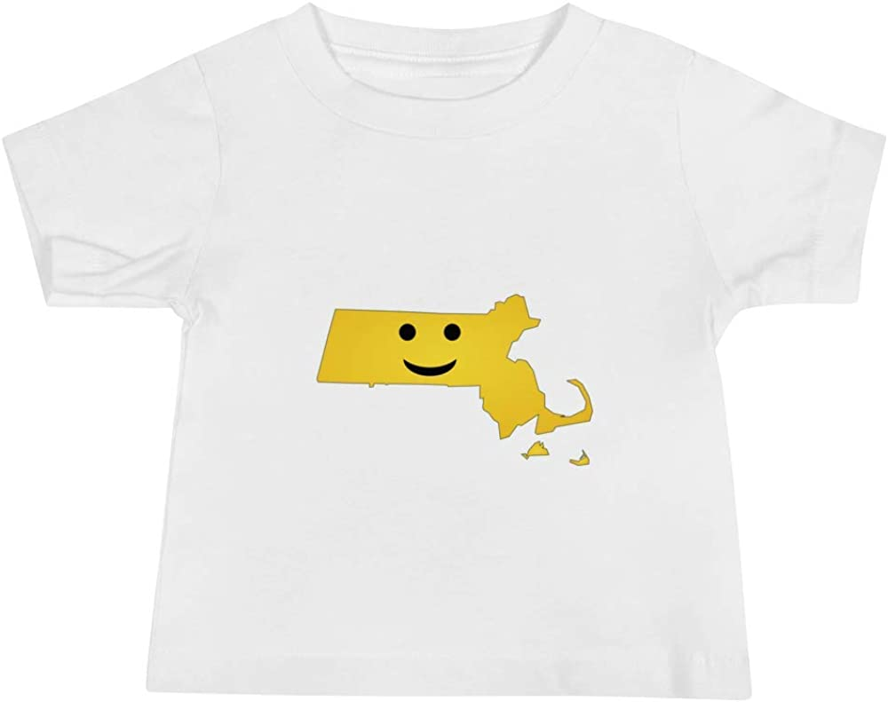 Massachusetts Emoji Baby Short Sleeve Tee T-Shirt