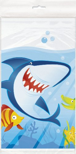 Ocean Shark Plastic Tablecloth, 84