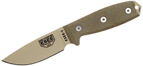 ESEE -3 Plain Edge Blades & Micarta Handles with OD Green Sh