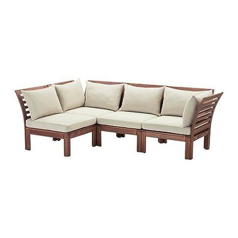 IKEA 4-Seat seccional, al aire libre, marrón manchado, Beige ...
