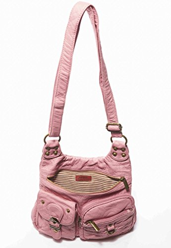 Leather Soft Tote Aria Rose by Ampere The Pink Crossbody Creations Hobo Vegan Handbag 0IXwO