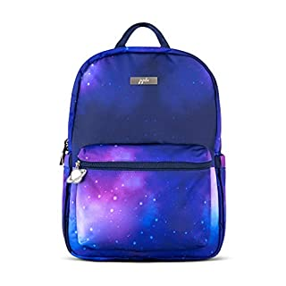 JuJuBe Galaxy Midi Backpack | Lightweight Multi Functional Daypack for Kids and Adults with Adjustable Straps and Bottle Pockets | Outer Space Everyday Bag or School Backpack