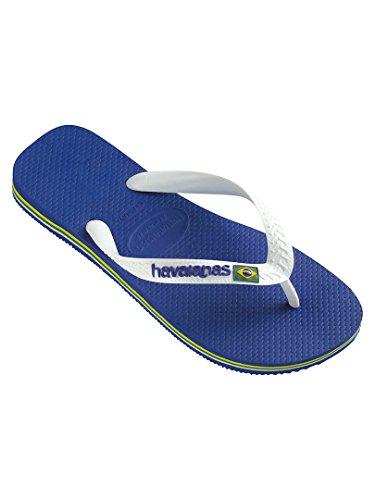 Havaianas Men's Brasil Logo Flip Flops, Blue, 7/8 US (39/40 - Buy Havaianas