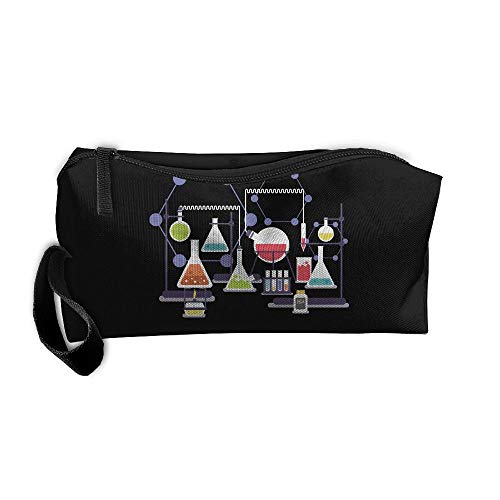 Cosmetic Bags With Zipper Makeup Bag Chemistry Heating Experiment Middle Wallet Hangbag Wristlet Holder