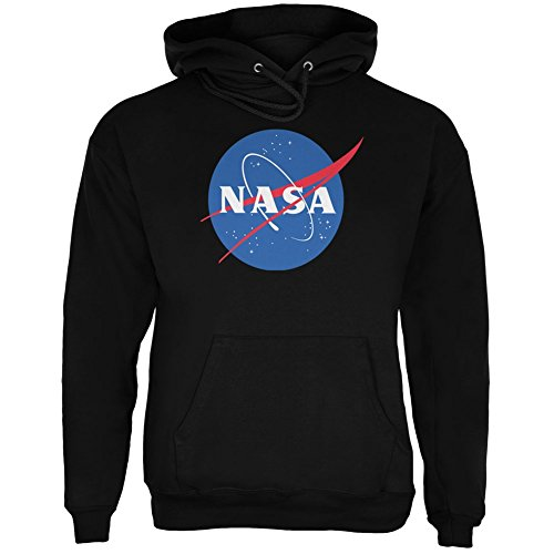 SAN NASA Logo Black Adult Hoodie - Buy Online in UAE. | Apparel Products in the UAE - See Prices ...