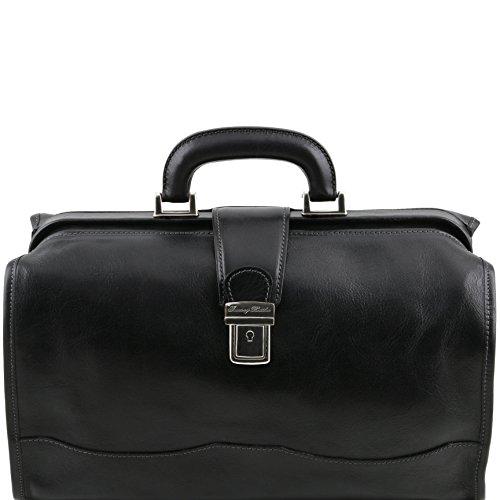 Tuscany Leather Raffaello Doctor leather bag Black