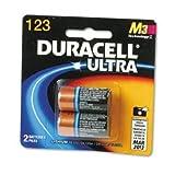 c 123 batteries - Duracell DL123AB2BPK Ultra High-Power Lithium Battery, 123, 3V, 2/Pack