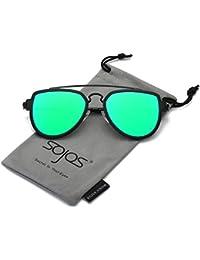 Fashion Aviator Sunglasses Polarized Mirrored Lens Double...