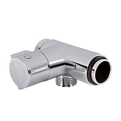 HOMEIDEAS Diverter Handheld Shower and Shower Head Shower Arm 3-Way Diverter Valve Mount Brass Polished Chrome PV8