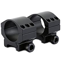 EDTara Scope Ring Mount Full Metal Durable Extreme Low Rifle Scope Weaver Mount Rings 30mm 2pcs