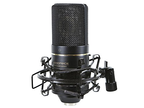 Monoprice Large Diaphragm Condenser Microphone - (Logic Front Shocks)