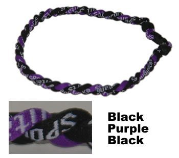 NEW! 18'' Kids Size Black Purple Tornado Necklace With Case by Extreme Sports by Extreme Sports