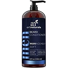 ArtNaturals Natural Beard Deep Conditioner - (8 Fl Oz / 236ml) - Infused with Aloe Vera, Tea Tree and Jojoba Oil - Sulfate Free