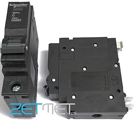 Square D QOE 16Amp Type B Single Pole MCB  6kA Rated