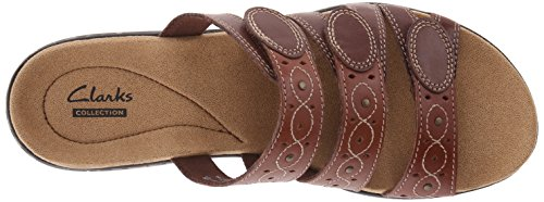 Sandal Slide Cacti Clarks multi Women's Brown Leisa wqAI8U