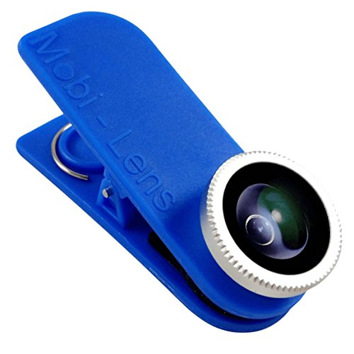 Mobi-Lens Clip On Lens Fisheye Lens 360 Degrees for iPhone 6 Plus 6 5s 5c 5, Note 4 5 Galaxy S4 S5 S6 Edge - Blue by Mobi-Lens