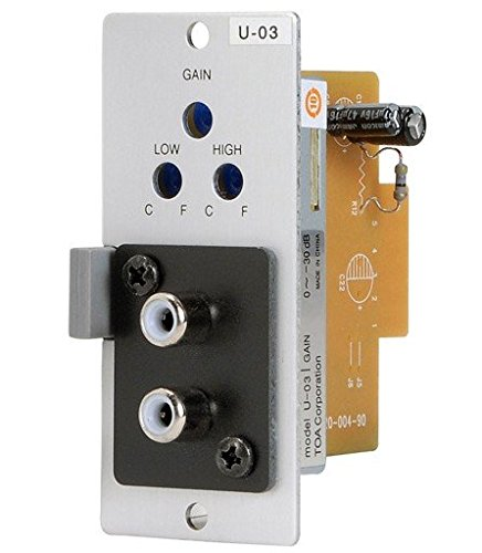 TOA U-03R Unbalanced Line Input Module with High Low Cut Filters by Toa