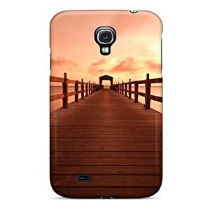 Galaxy S4 Hard Back With Bumper Silicone Gel Tpu Case Cover Sea Pier At Sunset