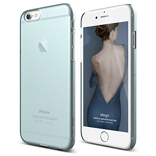 Frosted Coral - iPhone 6S Case, elago [Slim Fit 2][Frosted Coral Blue] - [Light][Minimalistic][True Fit] – for iPhone 6/6S