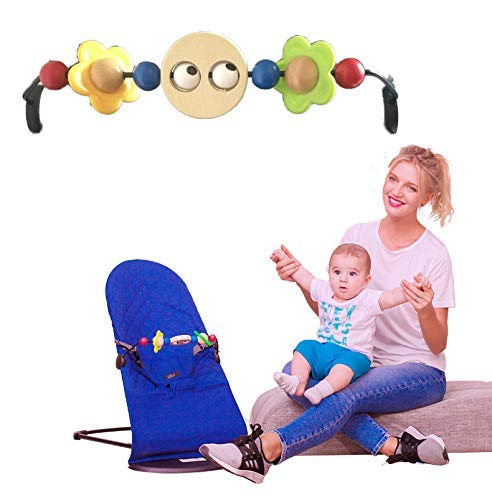 Tavalax Wooden Toy for Bouncer and Baby Stroller & Pram Activity Bar, Baby Eyes (Baby Toy)