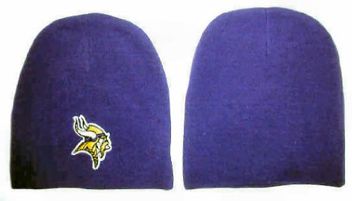 Men's Minnesota Vikings Purple Cuffless Beanie Stocking Hat/Cap (Nfl Stocking Hats Vikings)