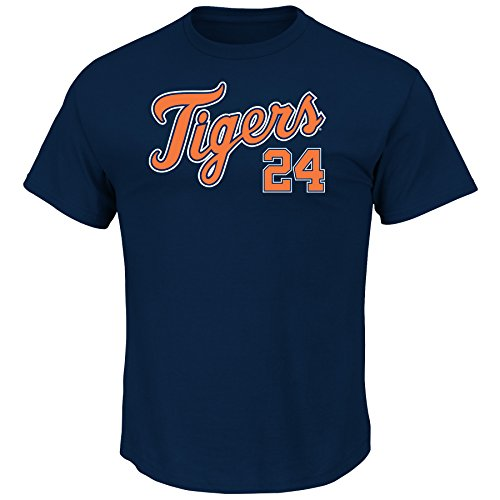 Name Mens Mlb Number Player (VF LSG MLB Detroit Tigers Men's M Cabrera 24 Player Name Number Tee, Large, Navy)