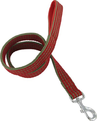 """Kakadu Pet Red Rope Padded Lead, 1 1/4"""" x 48"""", Red"""