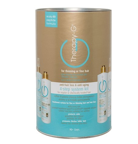 Therapy-G 4 Step System Kit (90 Day) Scalp BB Anti-Aging & Anti-Hair Loss (for Regular and Chemically Treated Hair) by Therapy-G