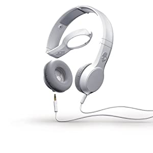 Skullcandy Cassette Headphones with Mic-1 Microphone -White