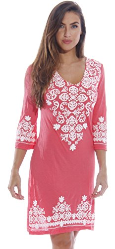 1883-Coral-L Just Love Swimsuit Cover Up / Summer Dresses / Resort Wear