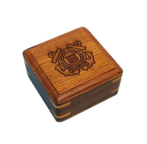 - Engraved Military Box, Small Hardwood Storage Case (Coast Guard, Personalized)