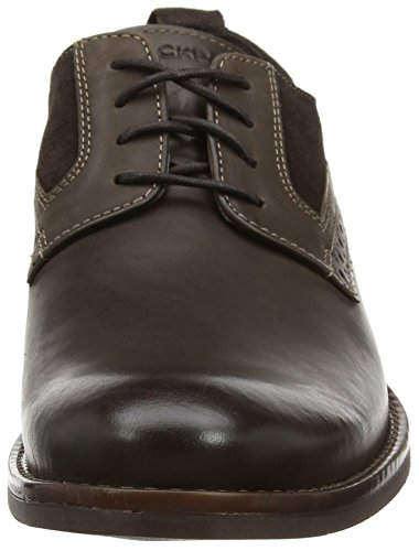Uomo Dark Toe Scarpe Plain Stringate Rockport Brown Wynstin Marrone cq6UnWax